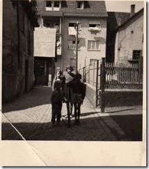 Frühjahr 58 Renate,Ute, Karlheinz Schmid und Martin