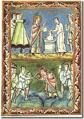 290px-St_Boniface_-_Baptising-Martyrdom_-_Sacramentary_of_Fulda_-_11Century
